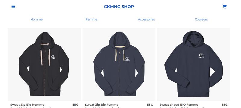 Une boutique en ligne pour le CKMNC