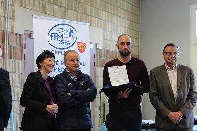 David SZLACHTA mis à l'honneur par Jeunesse et sport